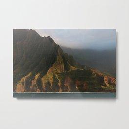 Napali Coast, Kauai, Hawaii Metal Print