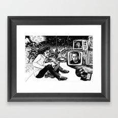 Pianito Man. Framed Art Print