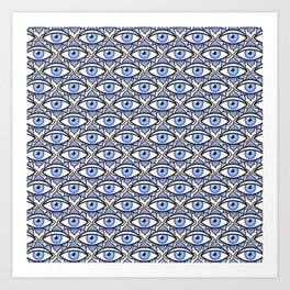 eye pattern Art Print