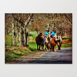 Horses Going Home Canvas Print