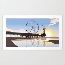 Scheveningen Beach Art Print