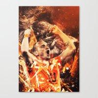 wesley bird Canvas Prints featuring Wesley Sneijder by Max Hopmans / FootWalls