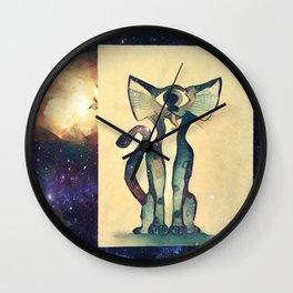 Cosmic Kitty Wall Clock