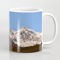 snowboarding Mugs featuring Hatcher Pass Termination Dust by Alaskan Momma Bear