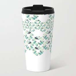 Glass Lace Metal Travel Mug