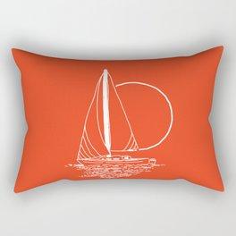Sailboat (mainichi) Rectangular Pillow