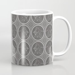 Grisaille Charcoal Grey Neo-Classical Ovals Coffee Mug