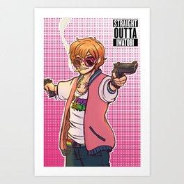 Straight Outta Iwatobi Art Print