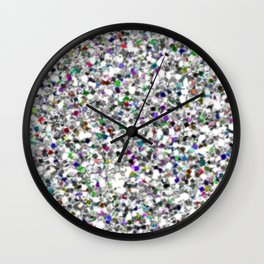Silver and White Mermaid Glitter Wall Clock