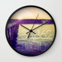 Hermosa Beach, California Wall Clock