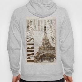 Vintage Paris eiffel tower illustration Hoody