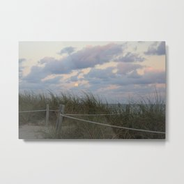 """Full Moon Over the Beach"" Metal Print"