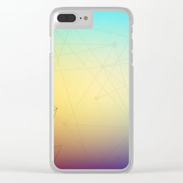 Abstract Background 16 Clear iPhone Case