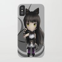 rwby iPhone & iPod Cases featuring Blake by Louiology