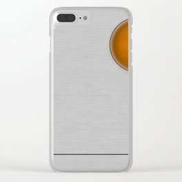 Orange Faced Balloon Clear iPhone Case