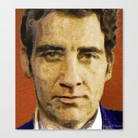 actor Canvas Prints featuring British Actor by Miguel A. Martin