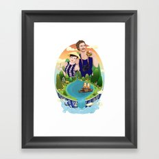 Couple custom illustration for I&S Framed Art Print