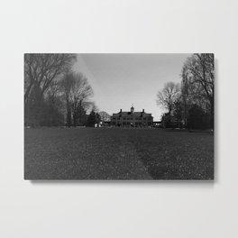 Retro USA Mount Vernon George Washington house 1970 Metal Print