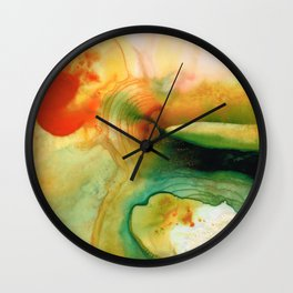 Inner Strength - Abstract Painting By Sharon Cummings Wall Clock