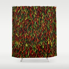 Hot chili peppers Shower Curtain