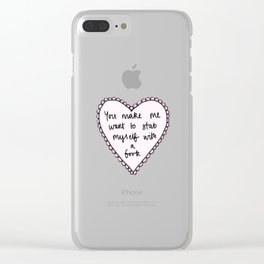 Stab with Love Clear iPhone Case