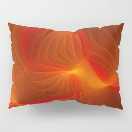 Much Warmth, Abstract Fractal Art Pillow Sham