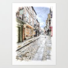 The Shambles York Snow Art Art Print