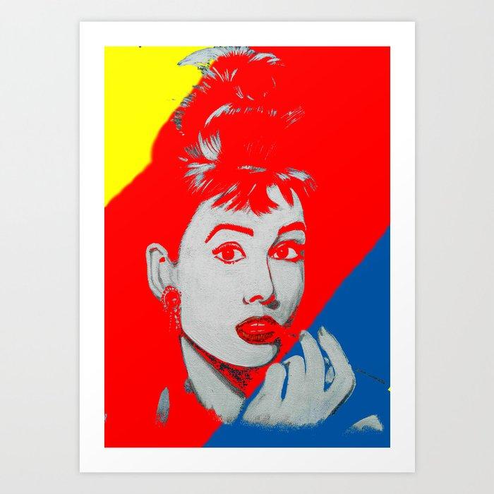 Technicolour Audrey Art Print