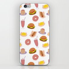 american diner food iPhone & iPod Skin