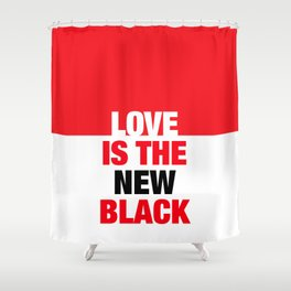 LOVE is the new black IV – Plain Shower Curtain