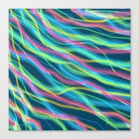 80s Canvas Prints featuring 80s Ripple by Beth Thompson