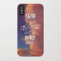 faith iPhone & iPod Cases featuring faith  by Brittney Borowski