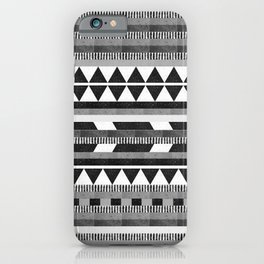 DG Aztec No.1 Monotone iPhone Case