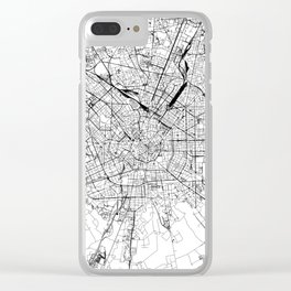 Milan White Map Clear iPhone Case