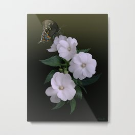 Sunpatiens and Swallowtail Butterfly Metal Print