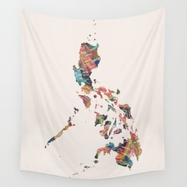Map of the Philippines / 81 provinces Wall Tapestry