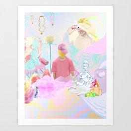 PINK RAVE Art Print