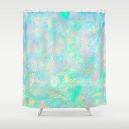 Light Blue Opal Shower Curtain