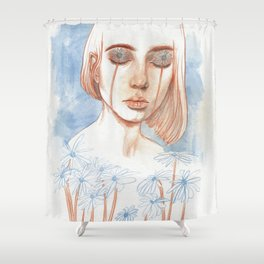 Tuned in Nature Shower Curtain