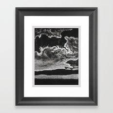 Dark Clouds Framed Art Print