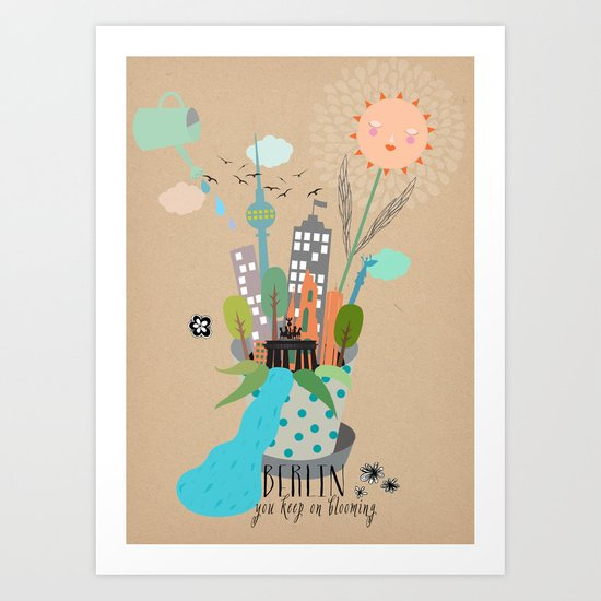 keep on blooming Art Print