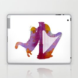Cat and harp Laptop & iPad Skin
