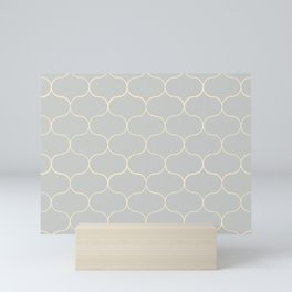 Ogee pattern Grey Mini Art Print
