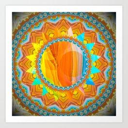 Moon and Sun Mandala Design Art Print