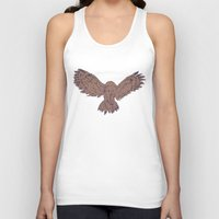 hunting Tank Tops featuring Hunting Owl  by Ben Bauchau