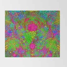The Twirling Light of My Mind Throw Blanket