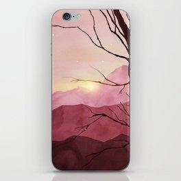 Sunset & landscape iPhone Skin