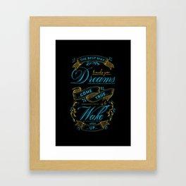 Dream  Typography Framed Art Print