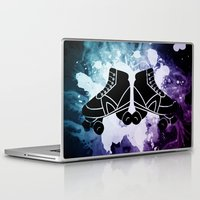 roller derby Laptop & iPad Skins featuring Roller Derby Galaxy Skates by Mean Streak