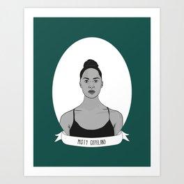 Misty Copeland Illustrated Portrait Art Print